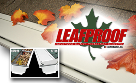 "Upper Peninsula Seamless Gutter Systems with LeafProof, ""Committed to Excellence!"""